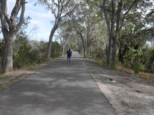 Wide paved trail