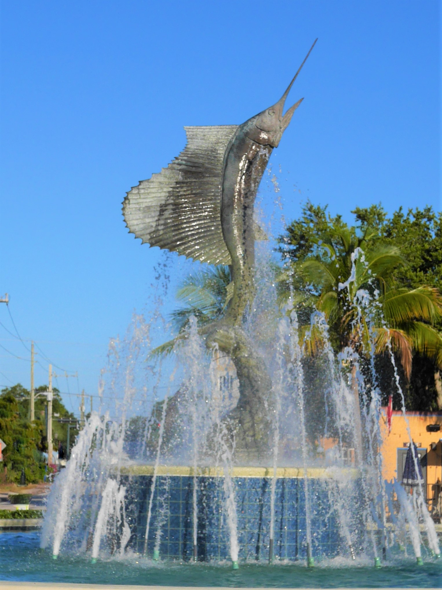 sailfish statue